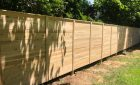 Solid Horizontal Board Cedar Fence